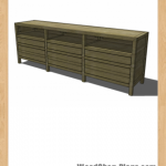 entertainment console woodworking plans