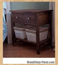 farmhouse bedside table woodworking plans