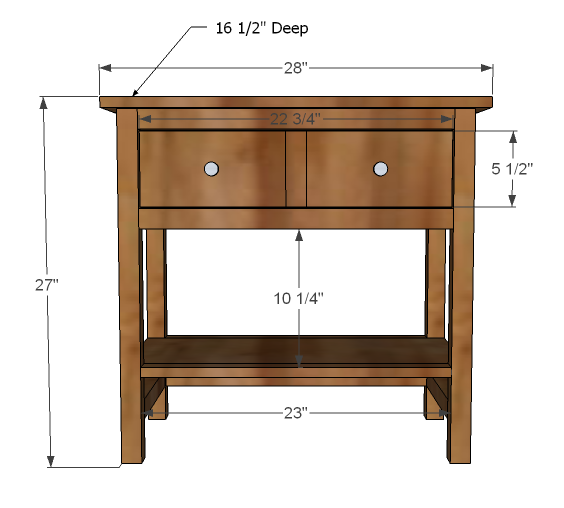 Farmhouse bedside table woodworking plans woodshop plans for Nightstand plans