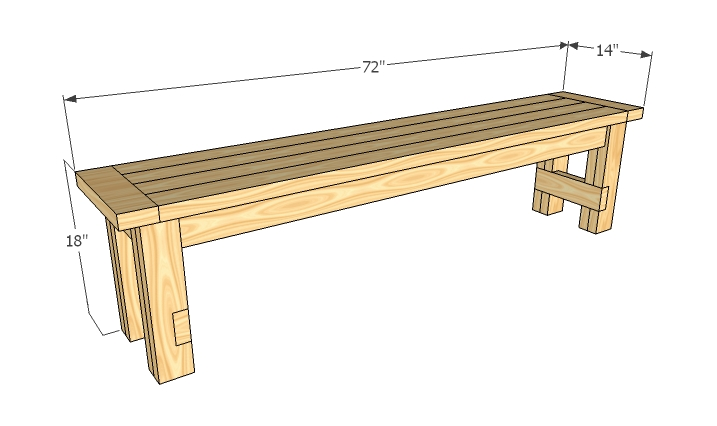 table bench seat plans