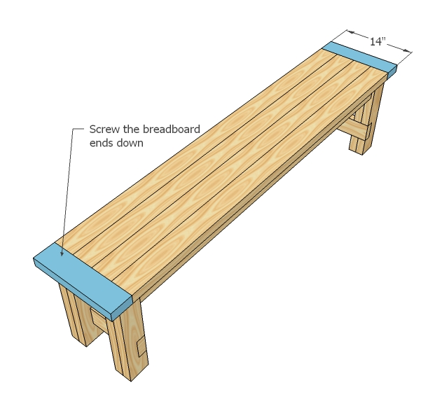 How to make a wood bench seat