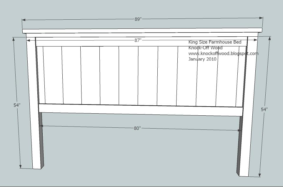 Farmhouse king bed woodworking plans woodshop plans for Farmhouse bed plans