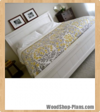 farmhouse king bed woodworking plans