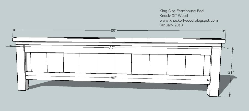Farmhouse King Bed Woodworking Plans Woodshop Plans
