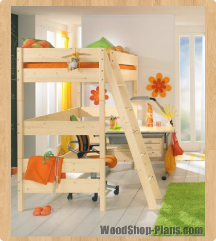 kids loft bed woodworking plans