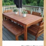 outdoor dining table woodworking plans