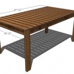 outdoor dining table woodworking plans 2