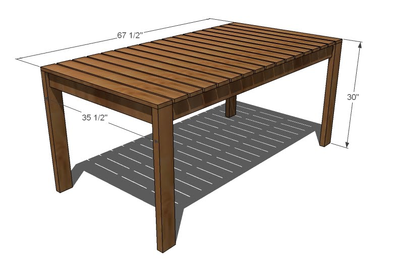 Outdoor dining table woodworking plans woodshop plans for Breakfast table plans