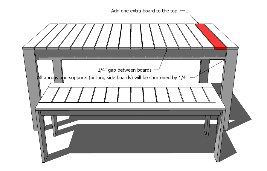 build outdoor dining table