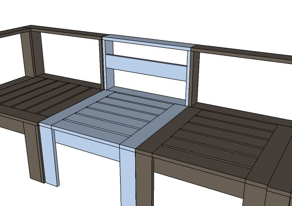 Outdoor sectional woodworking plans woodshop plans for Outdoor sofa plans
