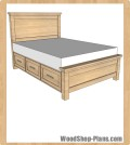 storage bed woodworking plans
