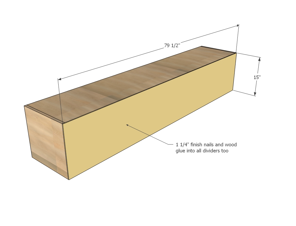 storage bed woodworking plans step 13