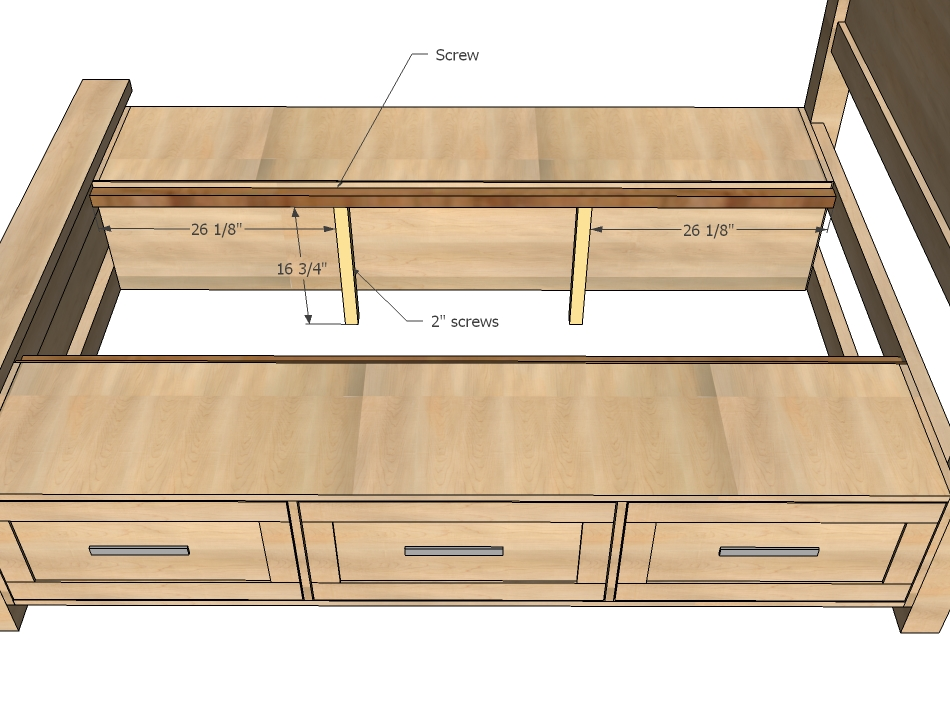 Storage bed woodworking plans woodshop plans for Bed frame plans