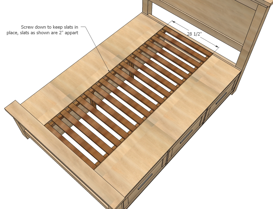 Queen Bed Frame With Storage Plans in addition Bed With Storage ...
