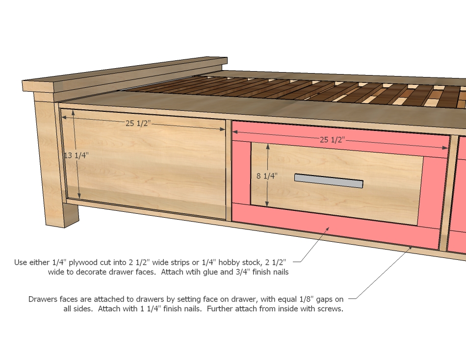 storage bed woodworking plans - WoodShop Plans