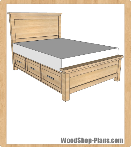 bed storage plans woodworking
