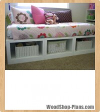 storage daybed woodworking plans