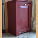 tilt out trash cabinet woodworking plans