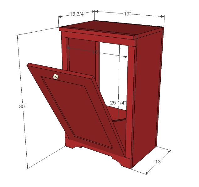 tilt out trash cabinet woodworking plans - WoodShop Plans