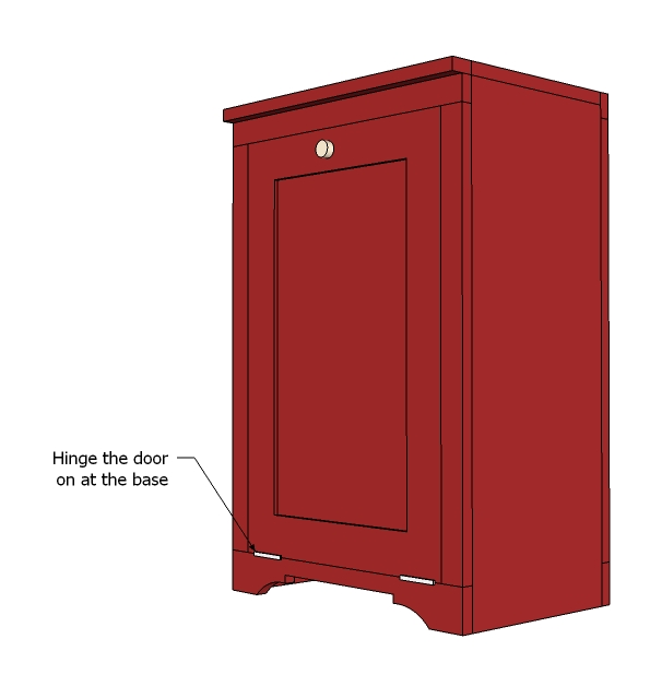 Kitchen Cabinet Woodworking Plans: Tilt Out Trash Cabinet Woodworking Plans