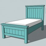 twin farmhouse bed woodworking plans 2