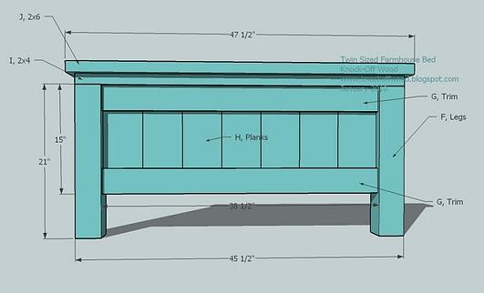 Free Wooden Twin Bed Plans