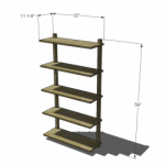 wall mounted bookcase woodworking plans 2