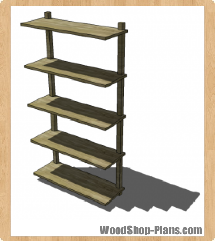 wall mounted bookcase woodworking plans