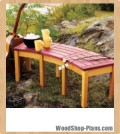 campfire bench woodworking plans
