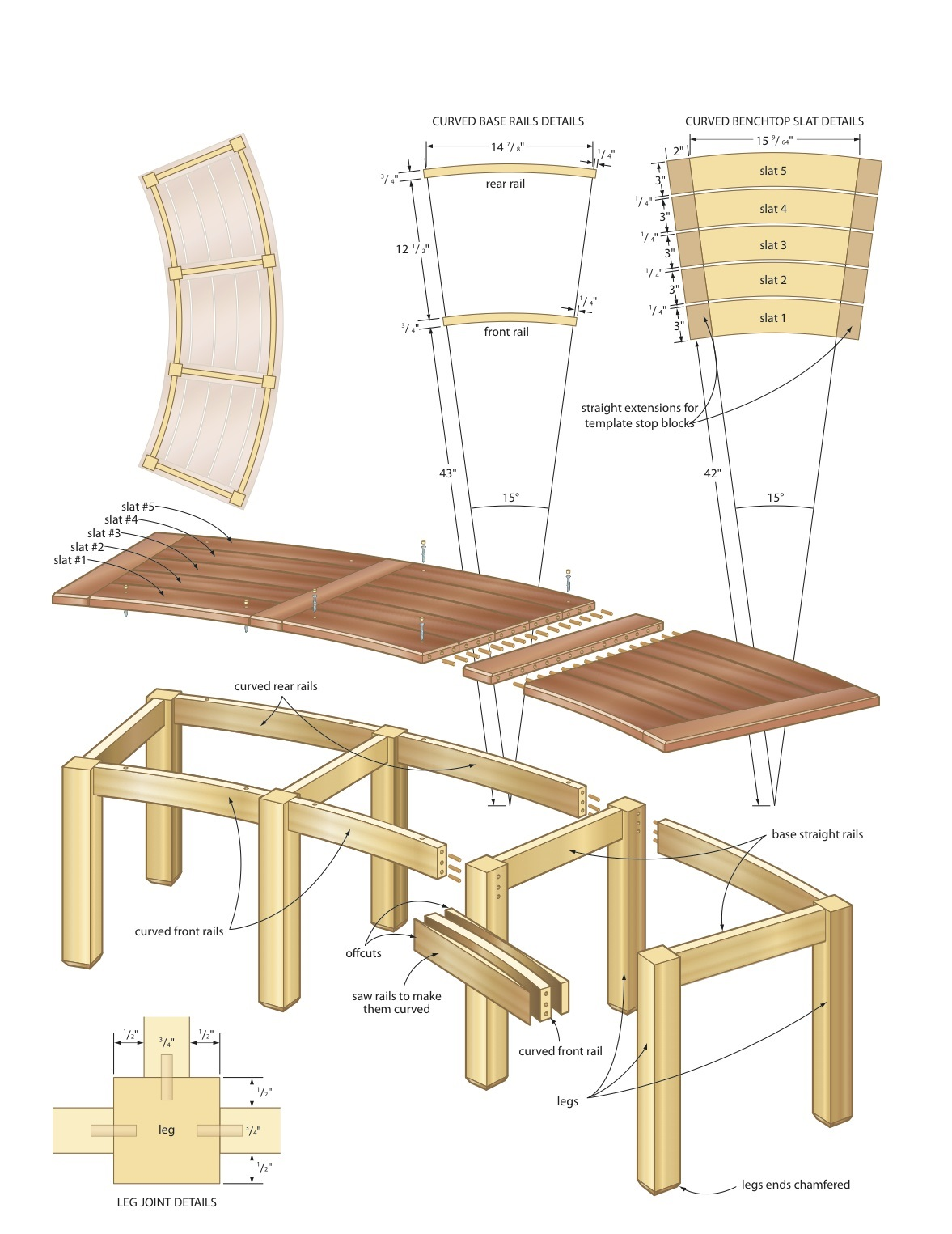 campfire bench woodworking plans - WoodShop Plans