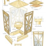 candle lantern woodworking plans 4