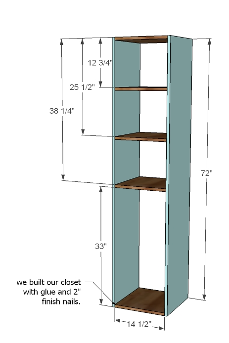 Closet storage organizer woodworking plans woodshop plans for How to build a walk in closet step by step