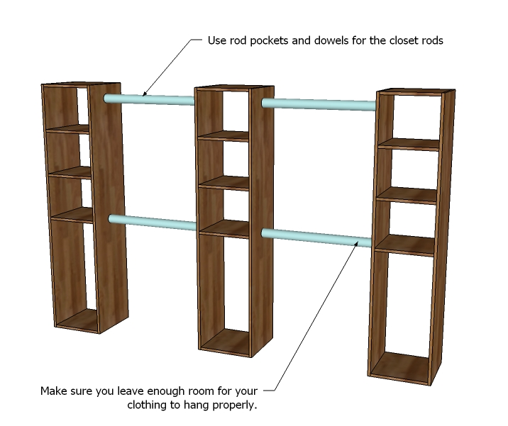 Closet storage organizer woodworking plans woodshop plans for How to design closet storage