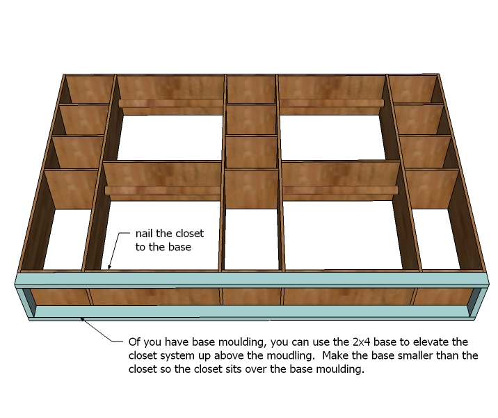 woodworking plans for closet organizer
