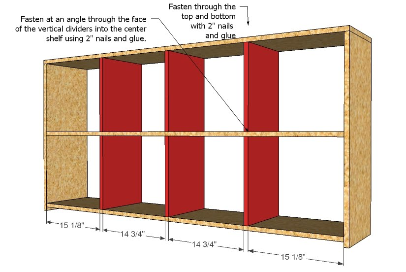 woodworking plans cubby shelf