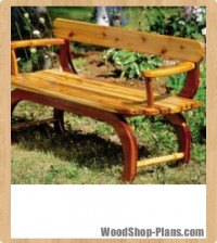 outdoor loveseat woodworking plans