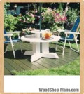 umbrella table woodworking plans