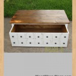 Apothecary Coffee Table or toybox woodworking plans