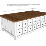 Apothecary Coffee Table or toybox woodworking plans 2