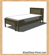 adjustable twin full bed woodworking plans