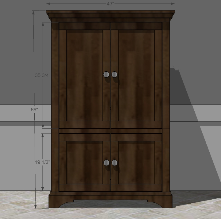Armoire woodworking plans woodshop plans for Wardrobe cabinet design woodworking plans
