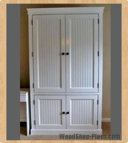 Pdf diy woodworking plans armoire download woodworking lathe reviews woodpr - Armoire design blanche ...