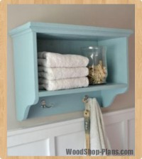 bath wall shelf with hangers woodworking plans