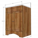 bathroom vanity woodworking plans 2