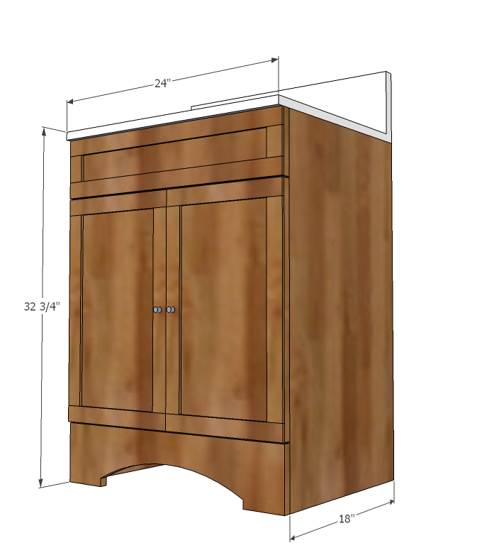 Bathroom vanity woodworking plans woodshop plans for Bathroom vanity plans