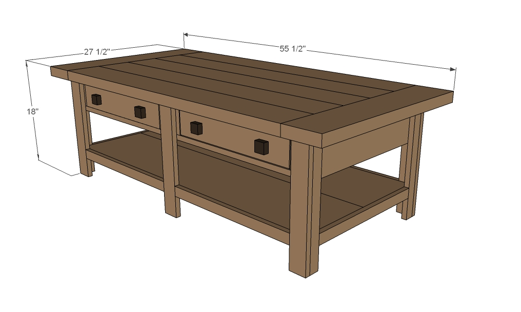 Coffee table plans dimensions woodworktips Homemade coffee table plans