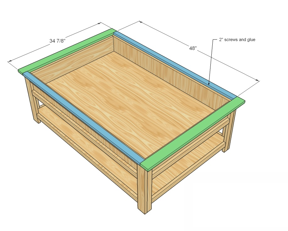 Coffee table woodworking plans woodshop plans Train table coffee table