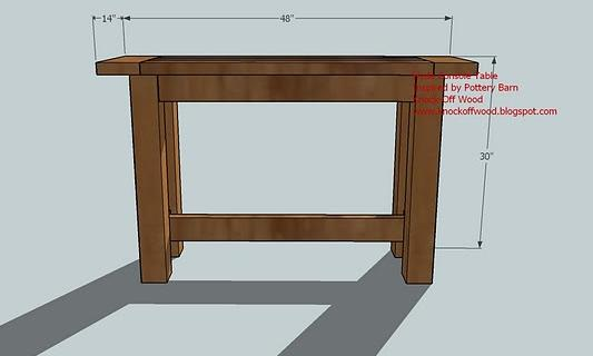 Entrance Foyer Dimensions : Console table woodworking plans woodshop