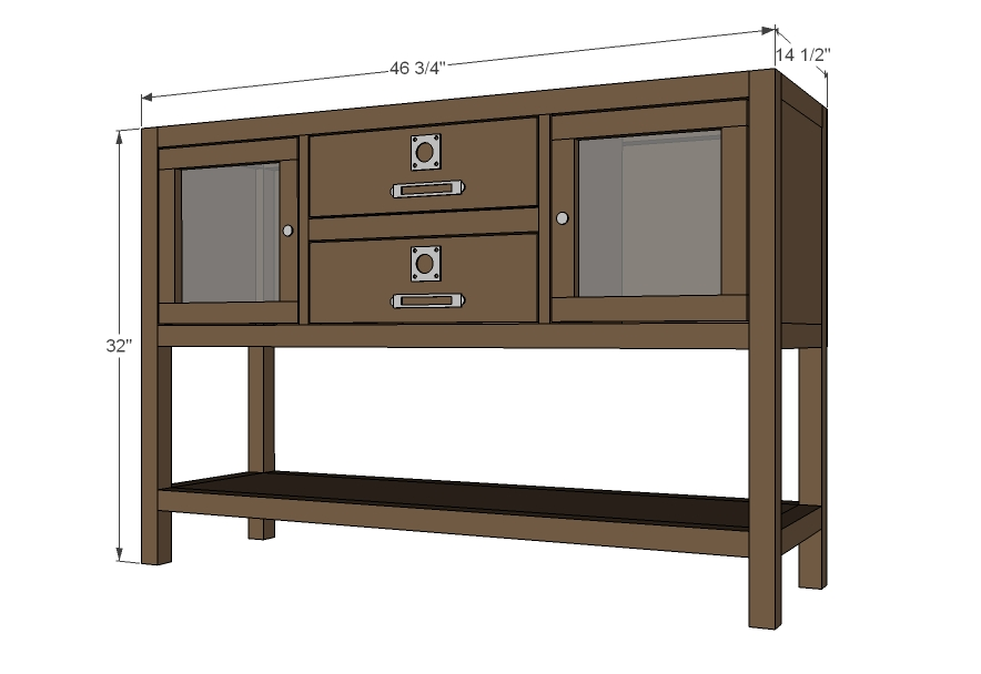 Simple Hi Friends! Im Thrilled To Be Teaming Up With The Folks At BuildSomethingcom Again To Bring You The Free Plans For This Chic DIY Console Table Would You Believe That You Can Make This Table For Less Than $50, From A Single Sheet Of Plywood?