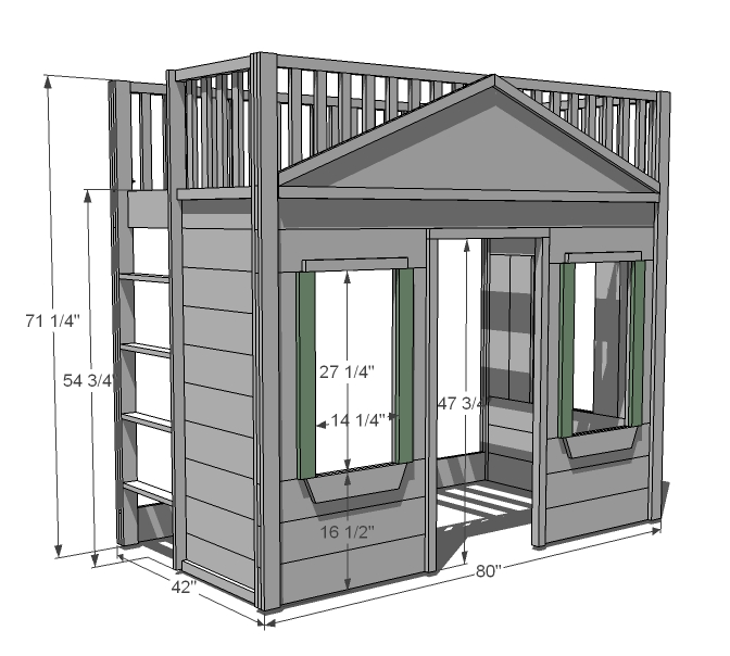 cottage loft bed woodworking plans - WoodShop Plans